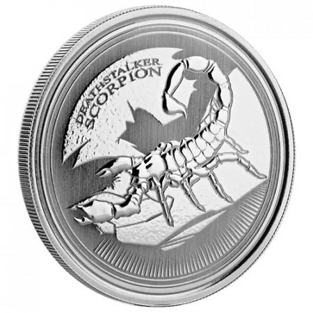 """2017 * 500 Francs CFA Argent 1 OZ Tchad """"Deathstalker Scorpion"""" FDC"""