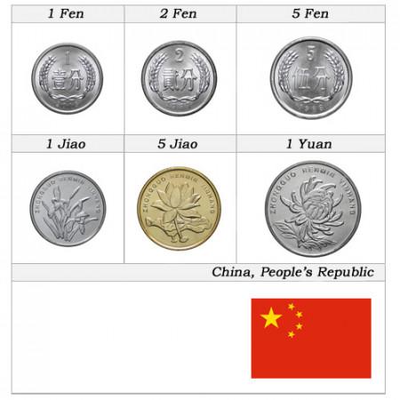 Ans Divers * Série 6 Pièces Chine