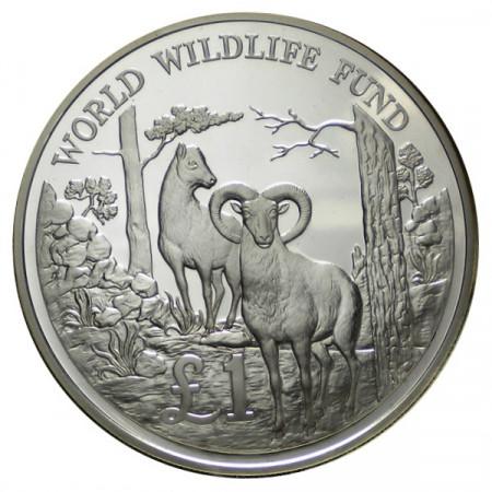 "1986 * 1 Pound Argent Chypre ""25e Fondation WWF"" (KM 59a) BE"