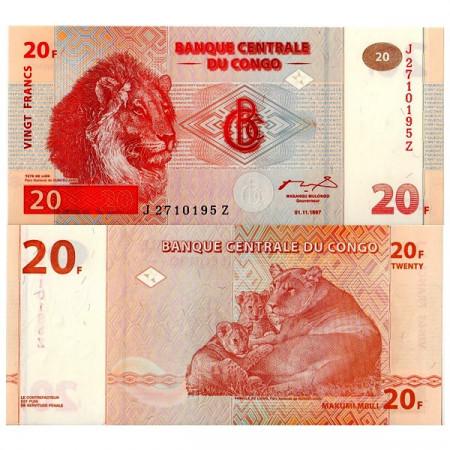 1997 * Billet Congo République Démocratique 20 Francs (p88) NEUF