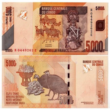 2013 * Billet Congo République Démocratique 5000 Francs (p102b) NEUF