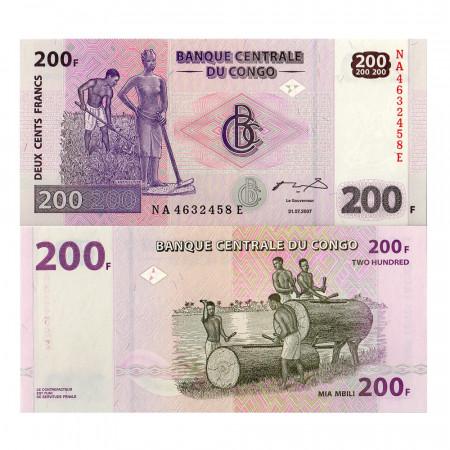 2007 * Billet Congo République Démocratique 200 Francs (p99a) NEUF