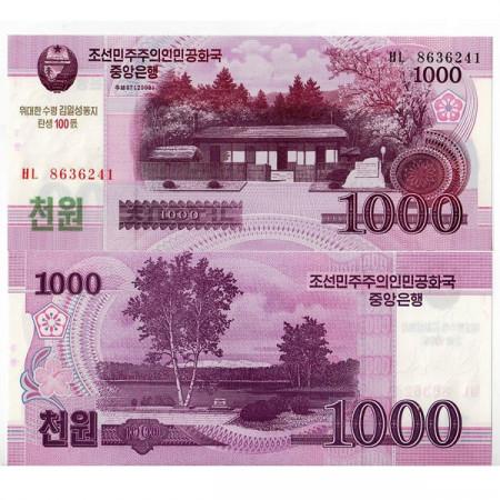 "2008 (2012) * Billet Corée du Nord 1000 Won ""Kim Il-Sung"" (pNew) NEUF"