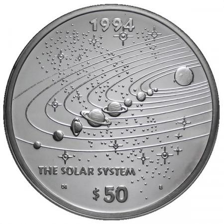 1994 * 50 Dollars en argent 1 OZ Îles Marshall Système Solaire