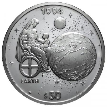 1994 * 50 Dollars en argent 1 OZ Îles Marshall Terre