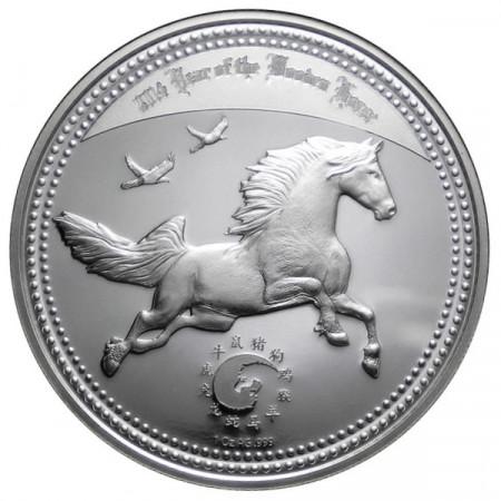 2014 * 1000 francs 1 OZ Cameroun An du Cheval BE