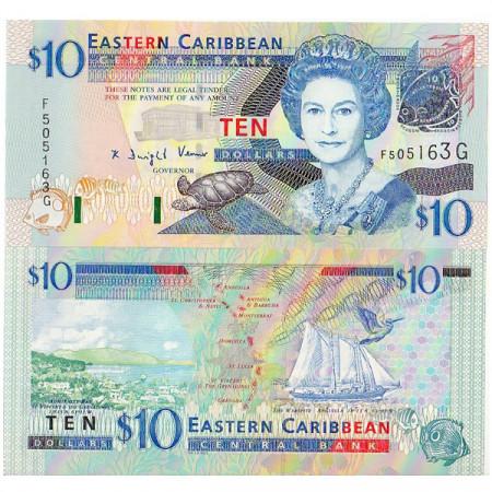 "ND (2003) * Billet East Caribbean States ""Grenade"" 10 Dollars NEUF"