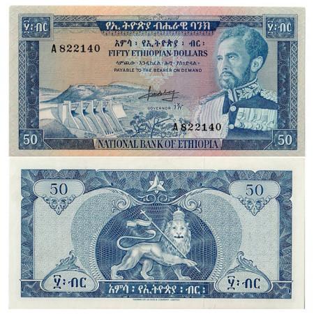 "ND (1966) * Billet Éthiopie 50 Dollars ""Haile Selassie I"" (p28a) SUP"