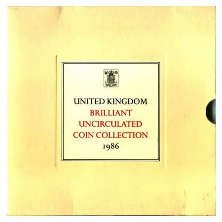 "1986 * Coffret Officiel Royaume-Uni Grande-Bretagne ""Royal Mint"" (MS107) BU"