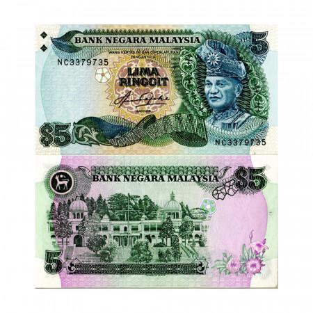 """ND (1983-84) * Billet Malaisie 5 Ringgit """"King Tuanku Abdul Rahman"""" (p20) NEUF"""