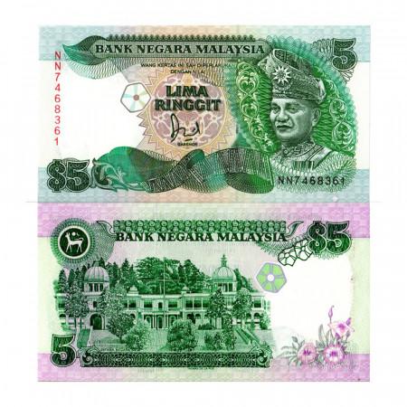 """ND (1989) * Billet Malaisie 5 Ringgit """"King Tuanku Abdul Rahman"""" (p28B) NEUF"""