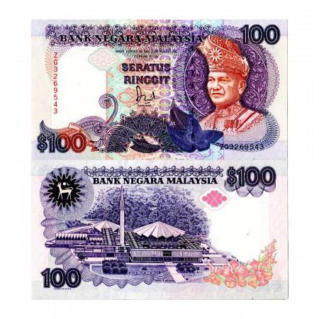 """ND (1989) * Billet Malaisie 100 Ringgit """"King Tuanku Abdul Rahman - TDLR"""" (p32) NEUF"""