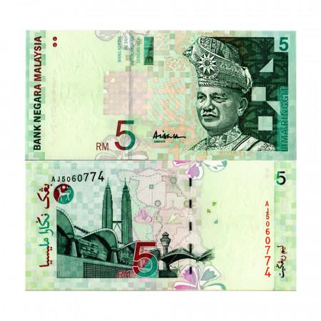 """ND (1999) * Billet Malaisie 5 Ringgit """"King Tuanku Abdul Rahman"""" (p41a) NEUF"""