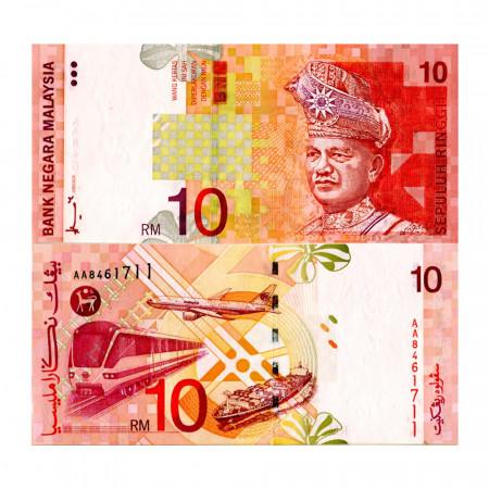 """ND (1997) * Billet Malaisie 10 Ringgit """"King Tuanku Abdul Rahman"""" (p42a) NEUF"""