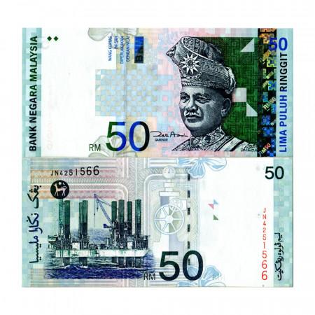 """ND (2001) * Billet Malaisie 50 Ringgit """"King Tuanku Abdul Rahman"""" (p43d) NEUF"""