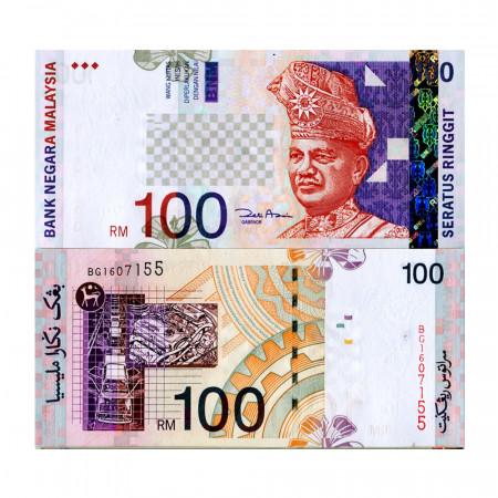 """ND (2001) * Billet Malaisie 100 Ringgit """"King Tuanku Abdul Rahman"""" (p44d) NEUF"""