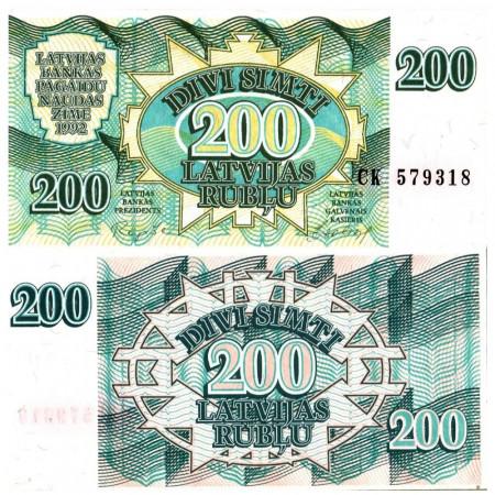 "1992 * Billet Lettonie 200 Rublu ""Government"" (p41) NEUF"