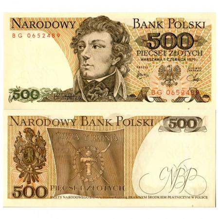 """1979 * Billet Pologne 500 Zlotych """"Tadeusz Kościuszko"""" (p145c) NEUF"""