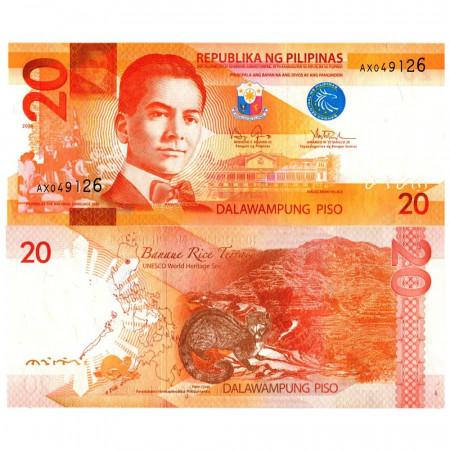"""2010 * Billet Philippines 20 Piso """"Manuel Quezon"""" (p206a) NEUF"""