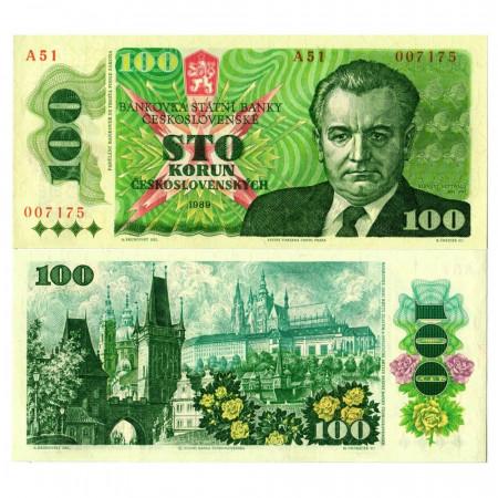 "1989 * Billet Tchécoslovaquie 100 Korun ""K Gottwald"" (p97) NEUF"