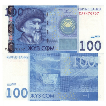 "2009 * Billet Kirghizistan 100 Som ""Toktogul Satylganov"" (p26a) NEUF"