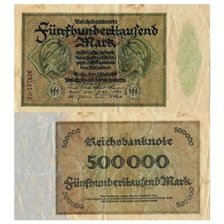 """1923 * Billet Allemagne Weimar 500.000 Mark """"Reichsbanknote"""" (p88b) prTTB"""