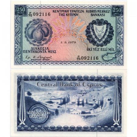 """1979 * Billet Chypre 250 Mils """"Mine"""" (p41c) NEUF"""