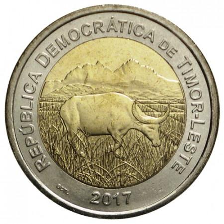 """2017 * 200 Centavos Bimétallique Timor Oriental """"Buffalo"""" UNC"""