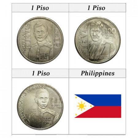 "2016 * Set 3 Monnaies Philippines ""Torres - Ricarte - Costa"" UNC"