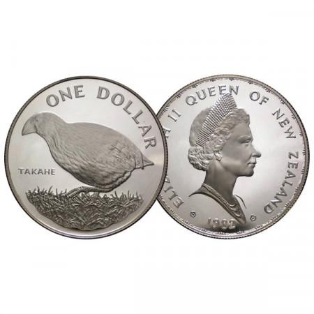 """1982 * 1 Dollar Argent Nouvelle-Zélande """"Takahe Bird"""" (KM 51a) BE"""