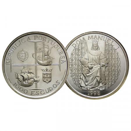 """1998 * 1000 Escudos Argent Portugal """"Dom Manuel I"""" (KM 713) FDC"""