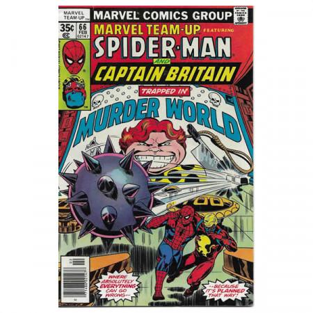 """Bandes Dessinées Marvel #66 02/1978 """"Marvel Team-Up ft Spiderman - Captain Britain"""""""