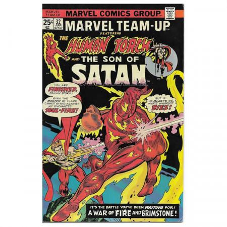"Bandes Dessinées Marvel #32 04/1975 ""Marvel Team-Up ft Spiderman - The Son of Satan"""