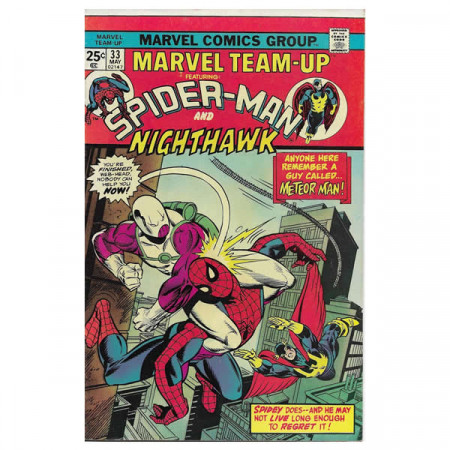 "Bandes Dessinées Marvel #33 05/1975 ""Marvel Team-Up ft Spiderman - Nighthawk"""