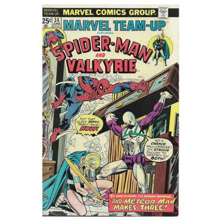 "Bandes Dessinées Marvel #34 06/1975 ""Marvel Team-Up ft Spiderman - Valkyrie"""