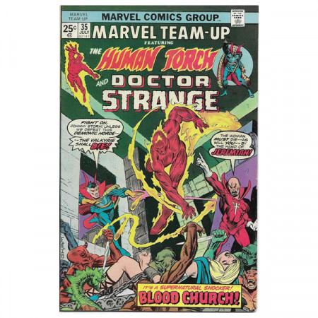 "Bandes Dessinées Marvel #35 07/1975 ""Marvel Team-Up ft Human Torch - Doctor Strange"""