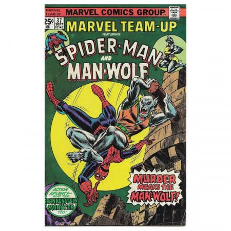 """Bandes Dessinées Marvel #37 09/1975 """"Marvel Team-Up ft Spiderman - Man-Wolf"""""""