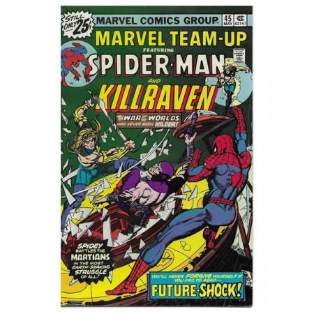 """Bandes Dessinées Marvel #45 05/1976 """"Marvel Team-Up ft Spiderman - Killraven"""""""