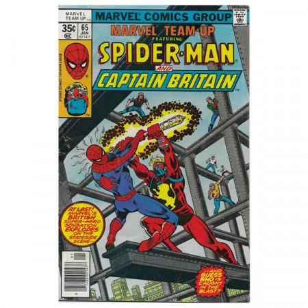"""Bandes Dessinées Marvel #65 01/1978 """"Marvel Team-Up ft Spiderman - Captain Britain"""""""