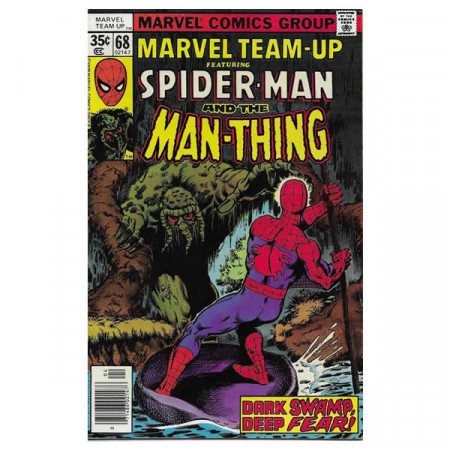 """Bandes Dessinées Marvel #68 04/1978 """"Marvel Team-Up ft Spiderman - Man-Thing"""""""