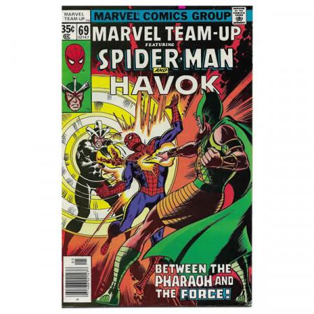 """Bandes Dessinées Marvel #69 05/1978 """"Marvel Team-Up ft Spiderman - Havok"""""""