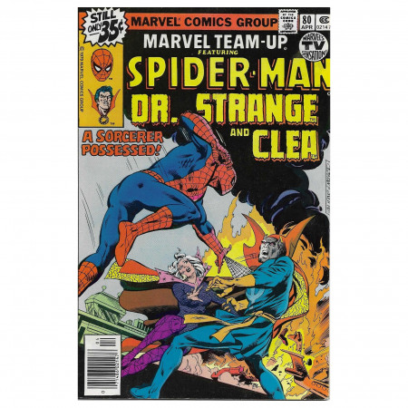 "Bandes Dessinées Marvel #80 04/1979 ""Marvel Team-Up ft Spiderman - Dr Strange and Clea"""