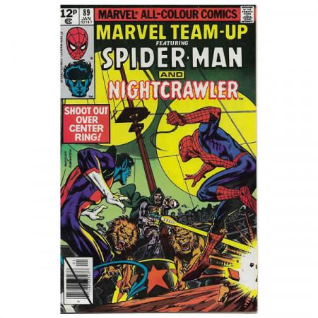 "Bandes Dessinées Marvel #89 01/1980 ""Marvel Team-Up ft Spiderman - Nightcrawler"""