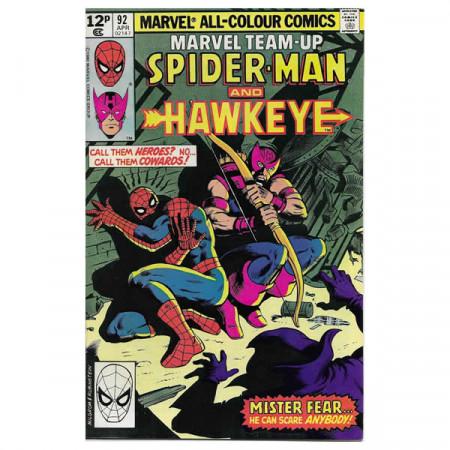 "Bandes Dessinées Marvel #92 04/1980 ""Marvel Team-Up Spiderman - Hawkeye"""