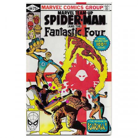 """Bandes Dessinées Marvel #100 12/1980 """"Marvel Team-Up Spiderman - Fantastic Four"""""""