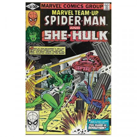 """Bandes Dessinées Marvel #107 07/1981 """"Marvel Team-Up Spiderman - She-Hulk"""""""