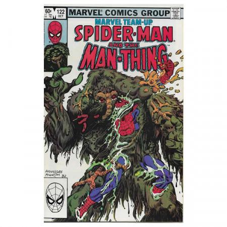 "Bandes Dessinées Marvel #122 10/1982 ""Marvel Team-Up Spiderman - Man-Thing"""