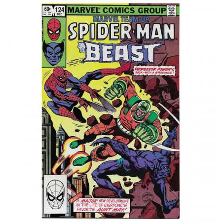 "Bandes Dessinées Marvel #124 12/1982 ""Marvel Team-Up Spiderman - Beast"""