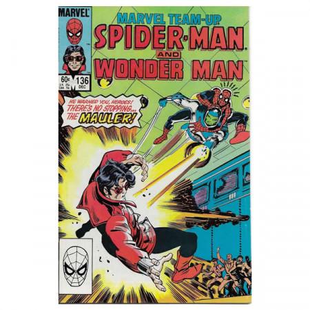 """Bandes Dessinées Marvel #136 12/1983 """"Marvel Team-Up Spiderman - Wonder Man"""""""