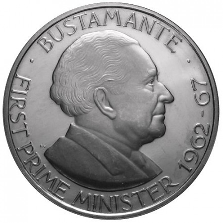 "1975 * 1 Dollar Jamaïque ""Bustamante"""